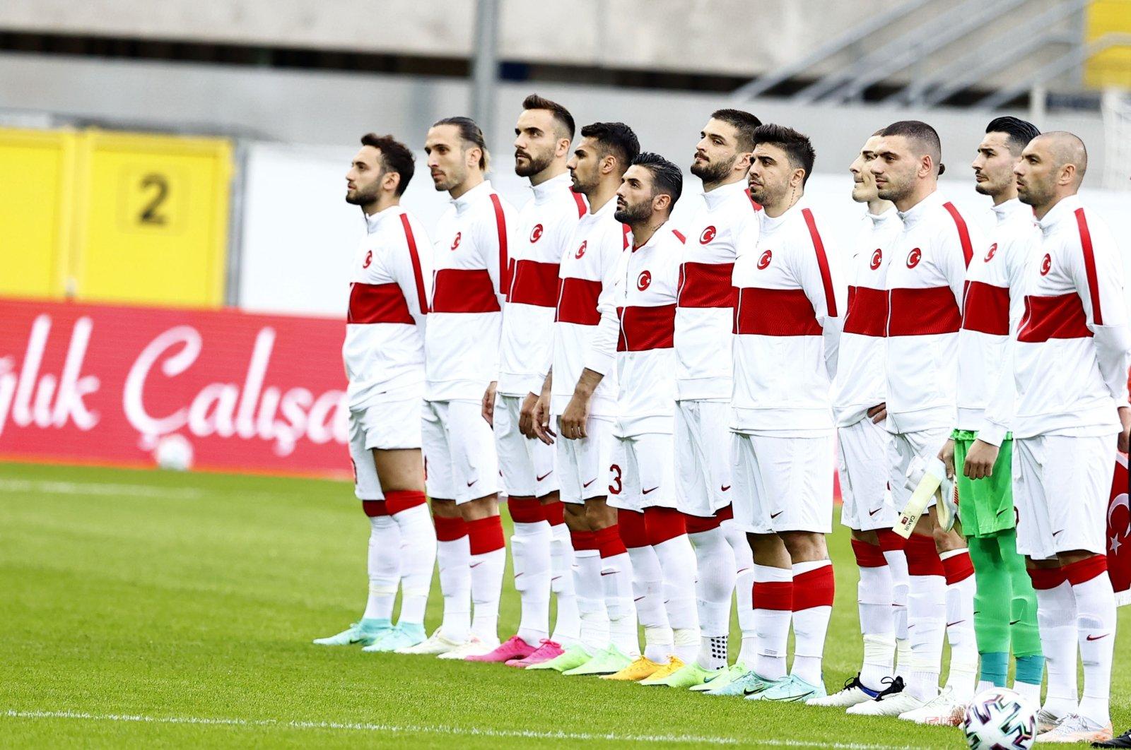 Turkish national team ahead of an international friendly against Moldova, Paderborn, Germany, June 3, 2021.