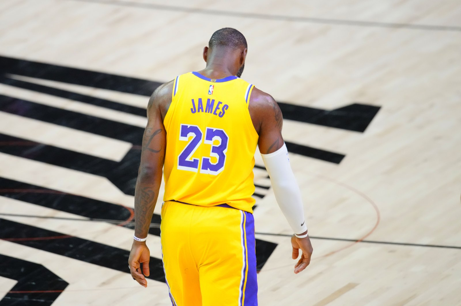 Los Angeles Lakers forward LeBron James during Game 5 NBA Playoffs match against the Phoenix Suns, Phoenix, Arizona, U.S., Jun 1, 2021.