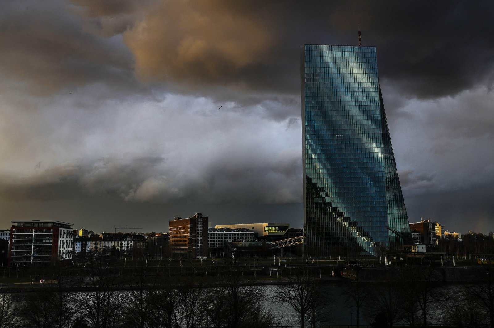 The headquarters of the European Central Bank (ECB) in Frankfurt am Main, western Germany, March 11, 2021. (AFP Photo)