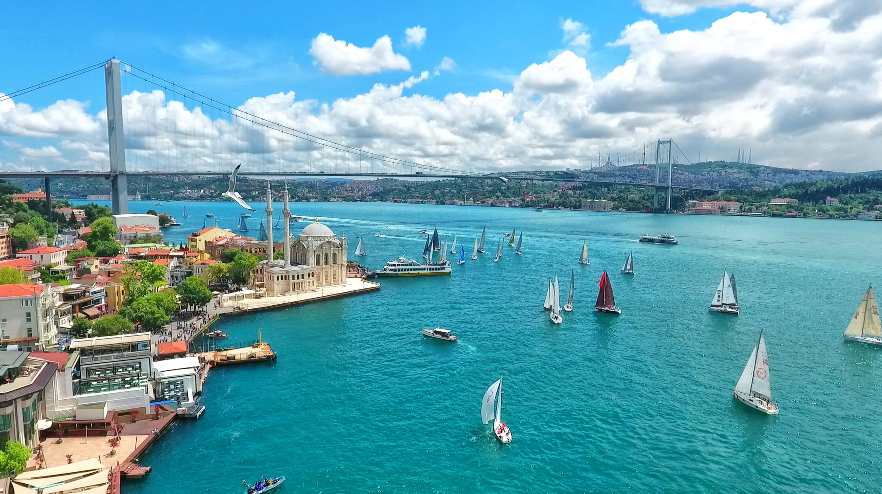 General view of Istanbul's Bosporus and the July 15 Martyrs Bridge. (Shutterstock Photo)
