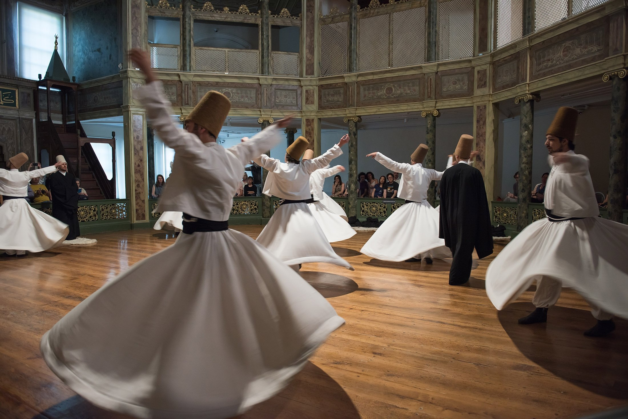 Whirling dervishes ceremony. (Shutterstock Photo)
