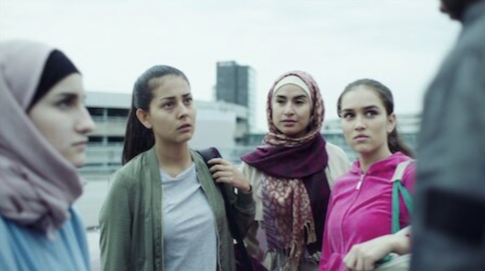 """A screengrab from the Swedish TV series, """"Caliphate,"""" that revolves around themes such as """"extremism,"""" terrorism and women's rights."""