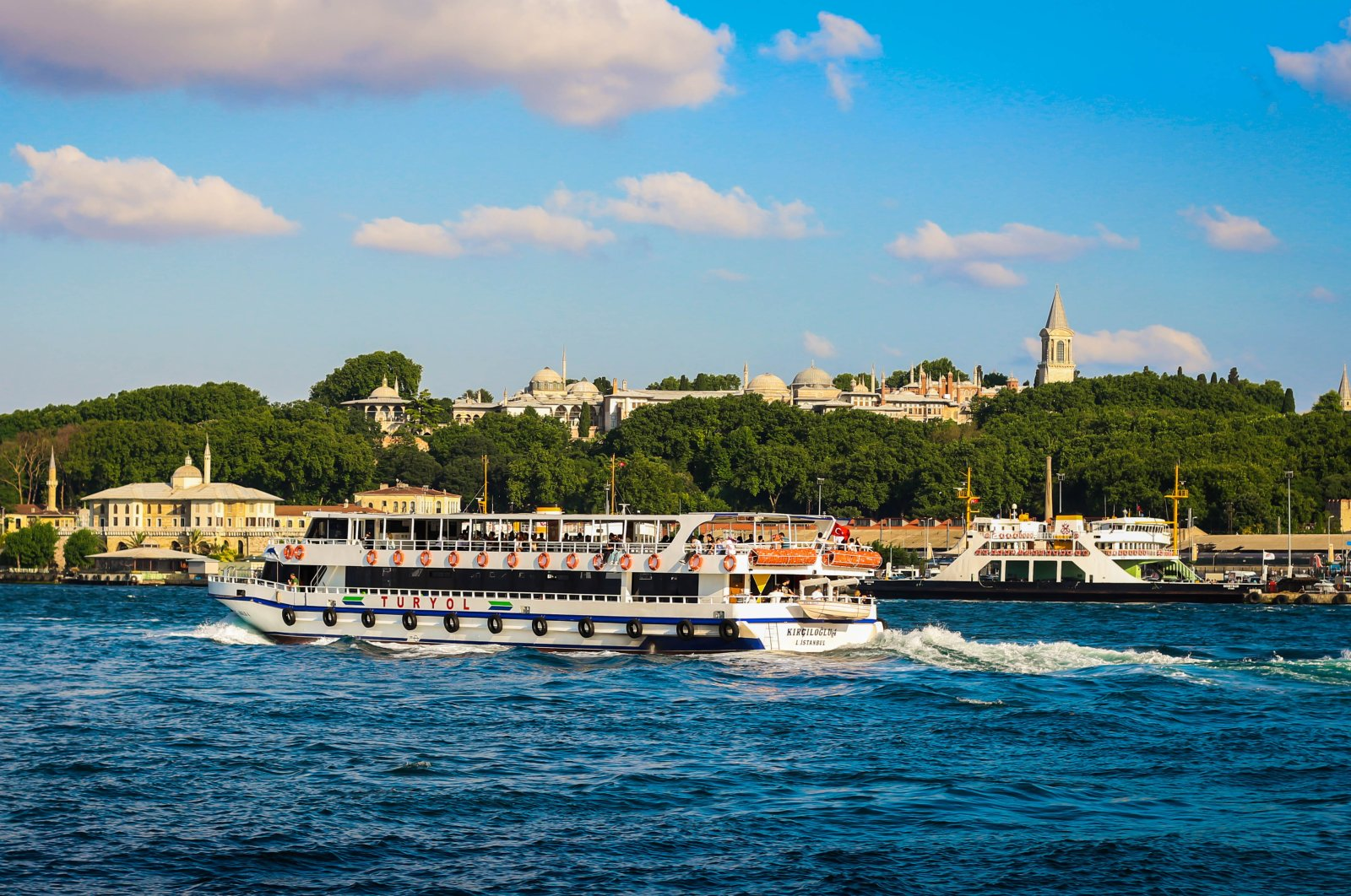 Ferry boat passing through Bosporus. (Shutterstock Photo)