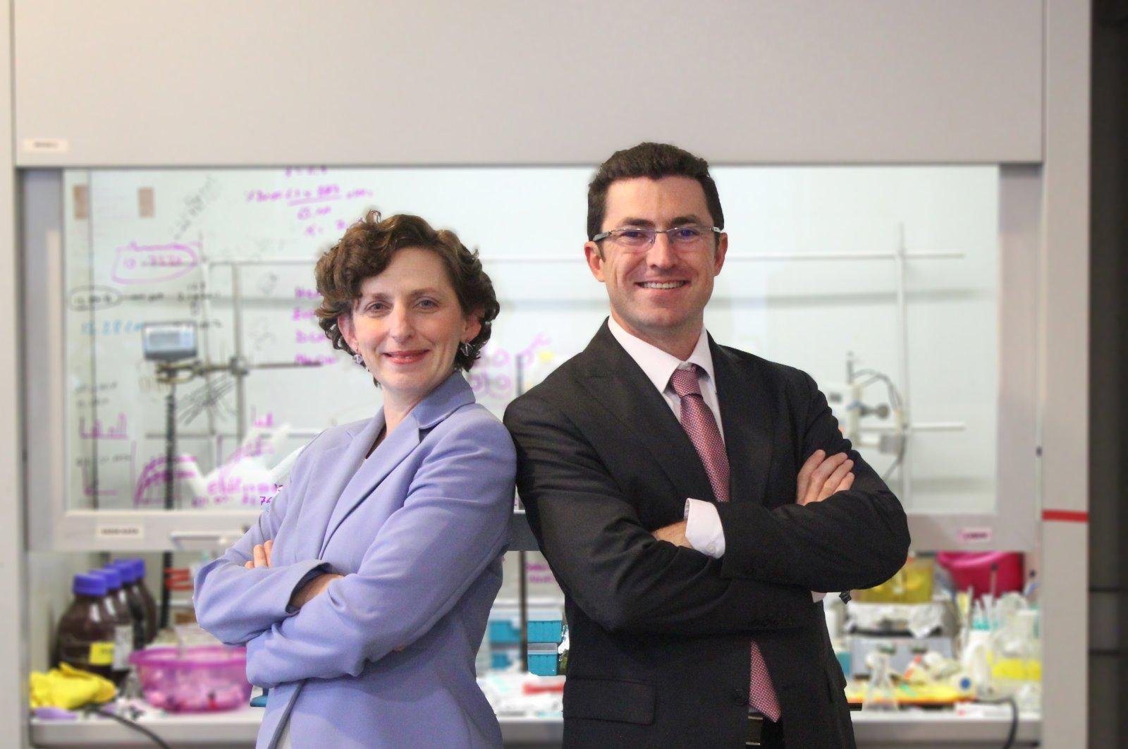 Sena Nomak (R) and Rana Sanyal, founders of RS Research, a next-generation therapeutics company developing novel nanomedicines.