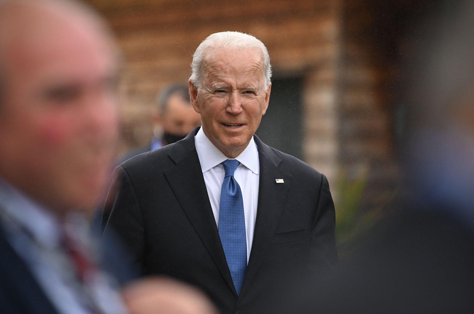 US President Joe Biden attends the G7 summit in Carbis Bay, Cornwall, England, June 11, 2021. (AFP Photo)