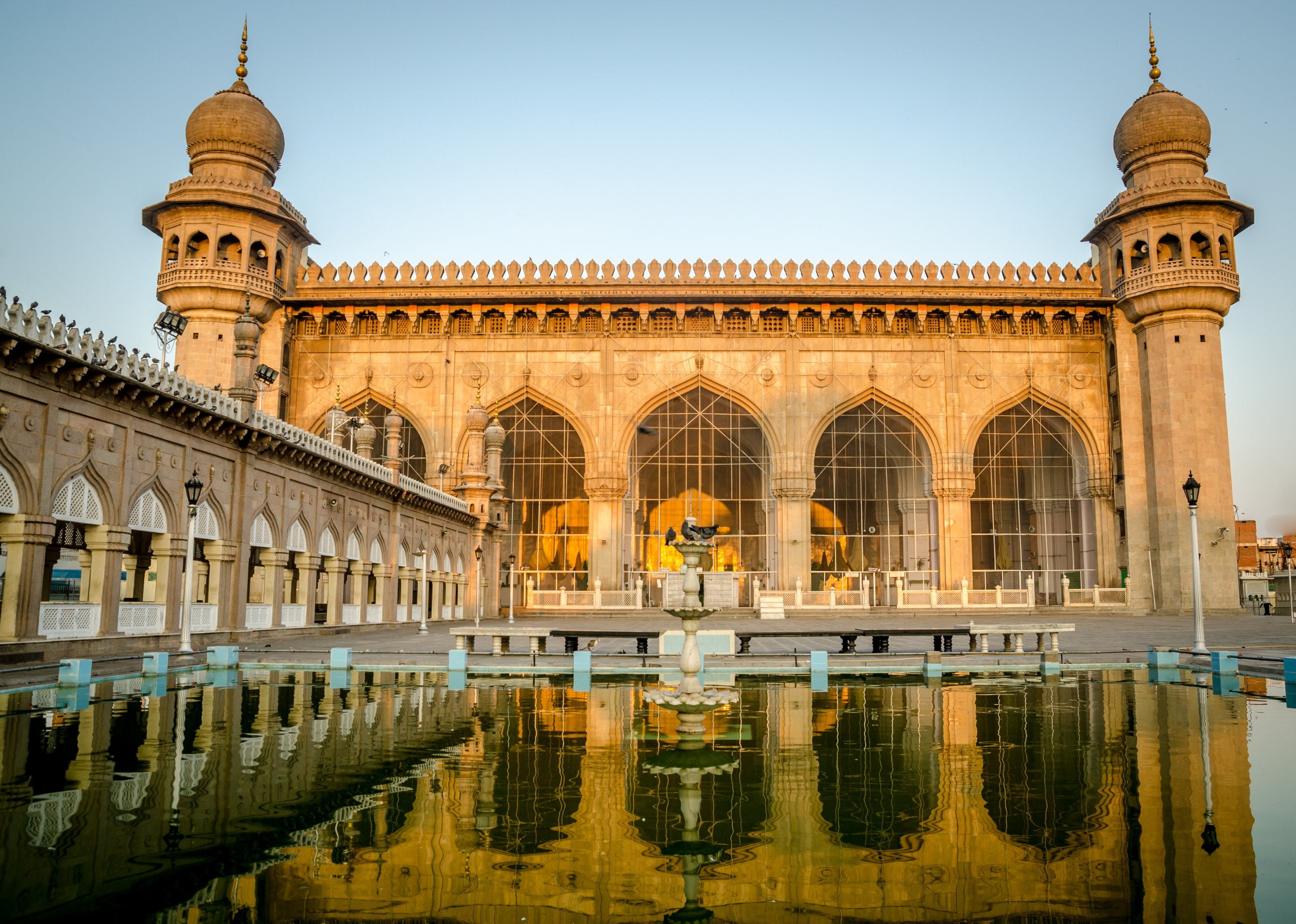 The Mecca Masjid of Hyderabad was built with stones or bricks made from the soil brought from Mecca. (Shutterstock Photo)