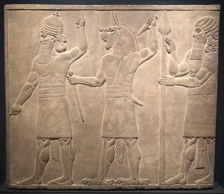 'Protective Spirits,' Assyrian, 645-640 B.C., the Getty Villa, California, the U.S., May 13. (Photo by Matt Hanson)