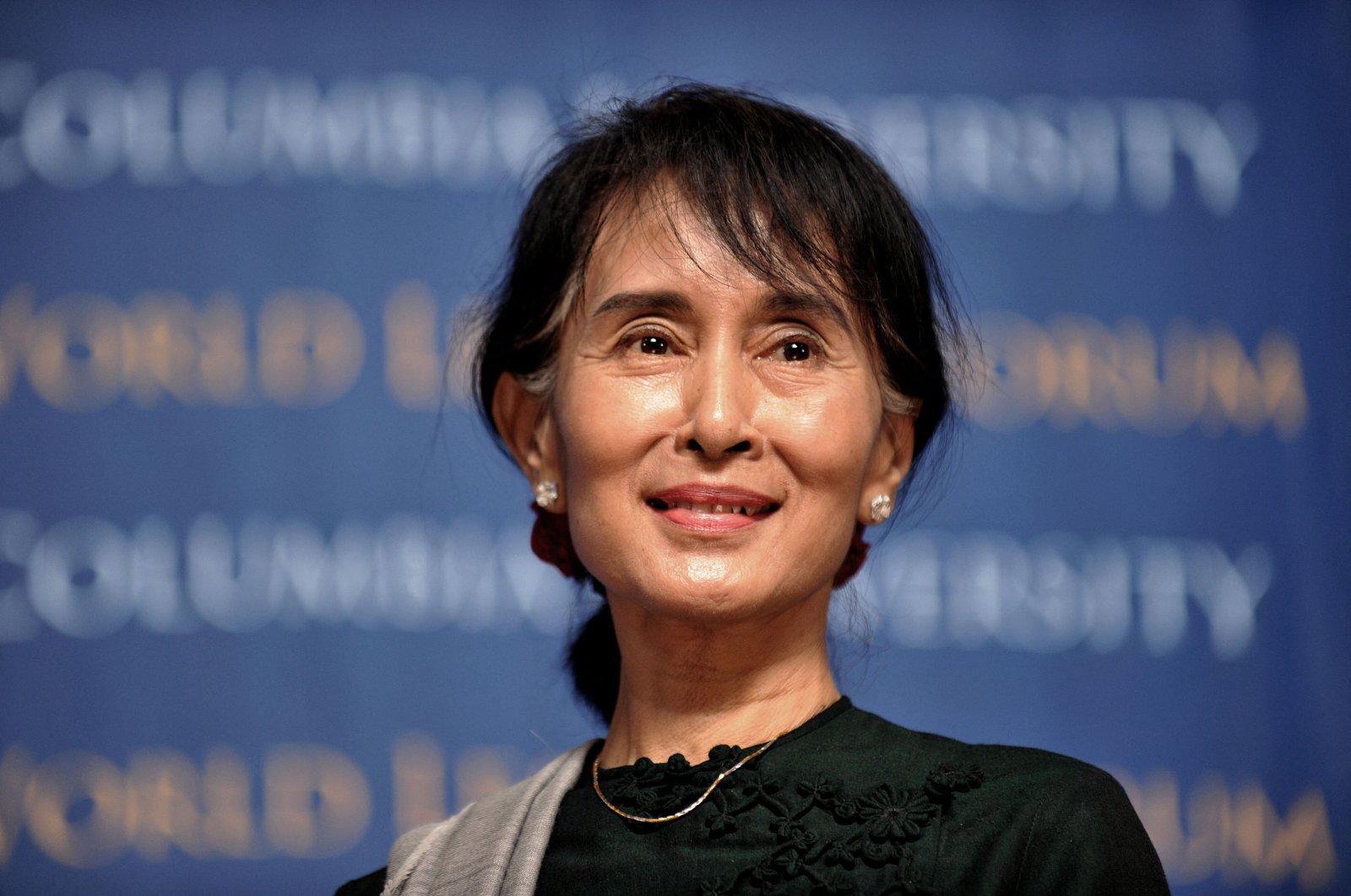 Myanmarese member of parliament Aung San Suu Kyi speaks at the Low Memorial Library at Columbia University in New York, U.S., Sept. 22, 2012. (AFP Photo)