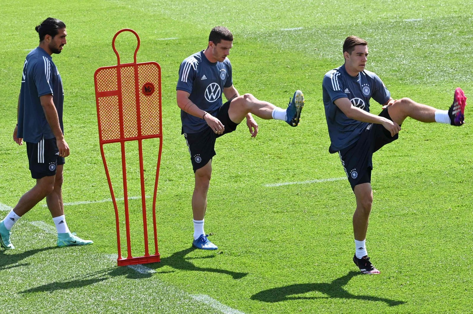 German players attend a training session in Herzogenaurach, Germany, on June 13, 2021. (AFP Photo)