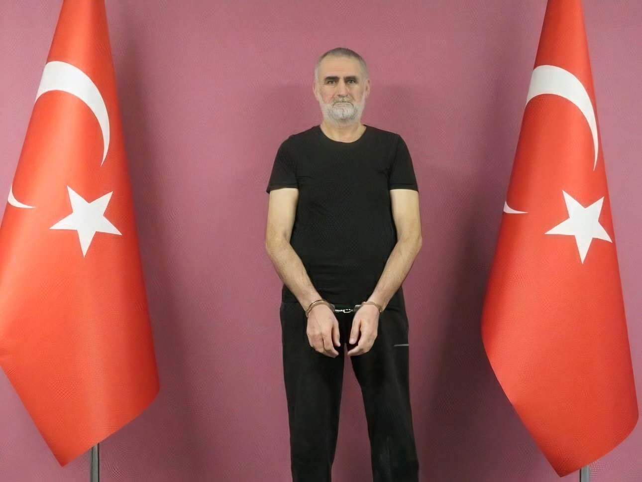 Senior Daesh terrorist Kasım Güler poses in handcuffs after being detained by Turkish intelligence, unidentified location in Turkey, June 15, 2021. (AA Photo)