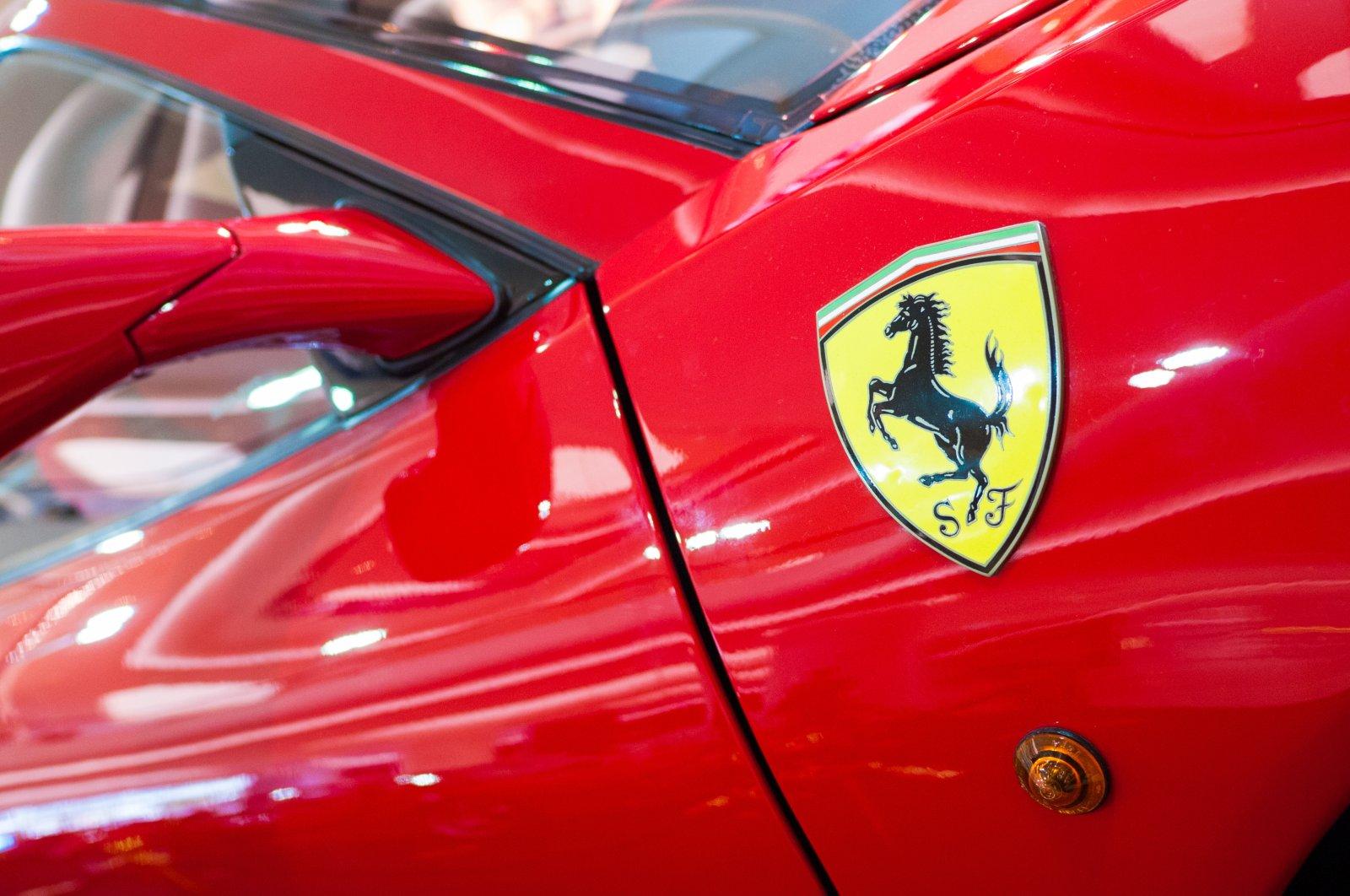 Logo of Ferrari on the sports car. (Shutterstock Photo)
