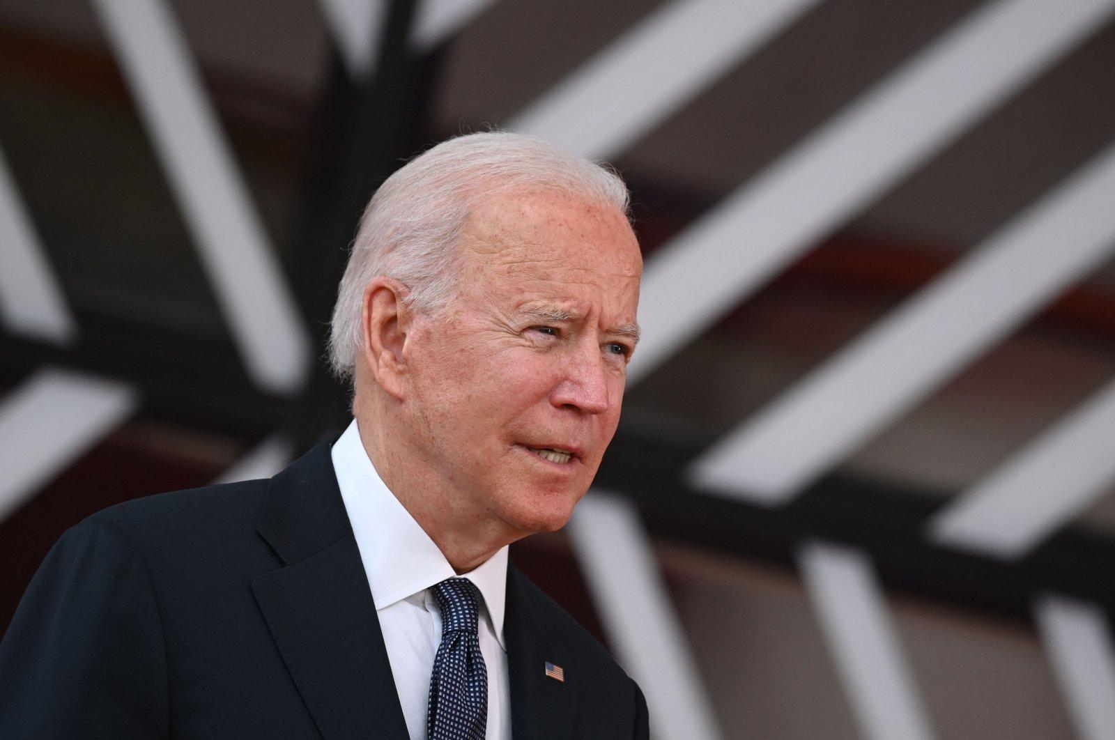 U.S. President Joe Biden arrives for an EU-U.S. summit at the European Union headquarters in Brussels, Belgium, on June 15, 2021. (AFP Photo)