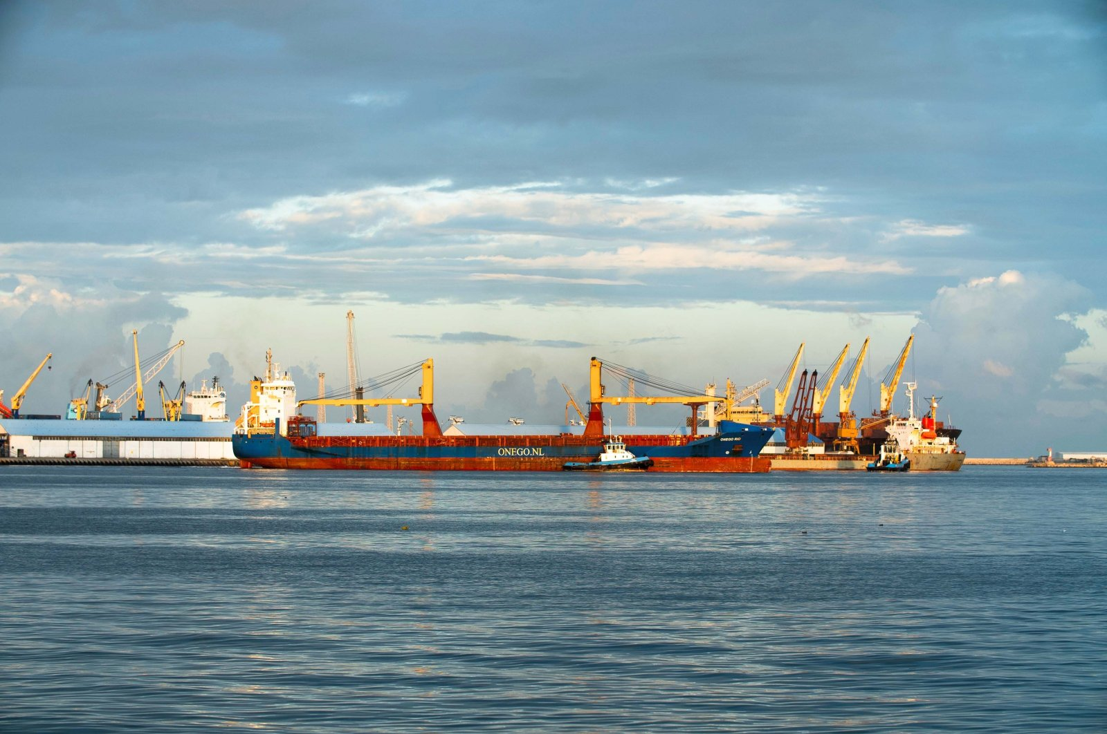 Container ships with loading cranes at the Port of Tripoli, Tripoli, Libya, Nov. 25, 2020. (Shutterstock Photo)