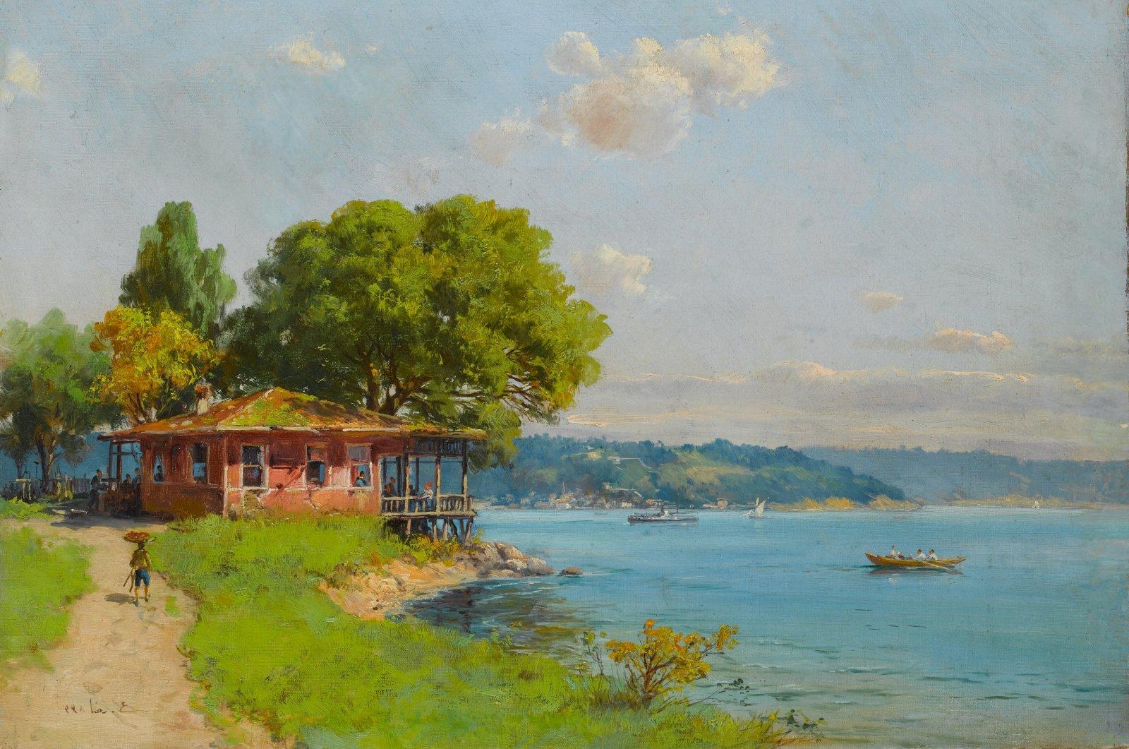 """Istanbul,"" Hoca Ali Rıza, oil on canvas, 43.5 by 61 centimeters. (Courtesy of SSM)"