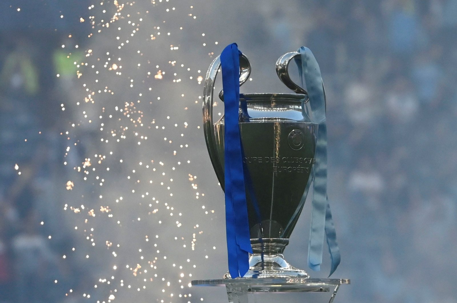 Champions League trophy is seen at the Estadio do Dragao in Porto, Portugal, May 29, 2021. (Reuters Photo)