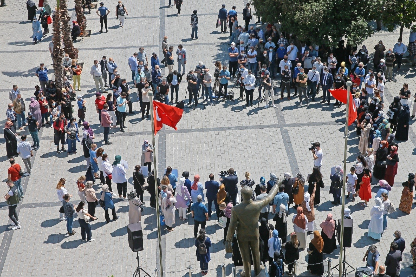 People stage a protest against the attack, in Istanbul, Turkey, June 9, 2021. (İHA PHOTO)