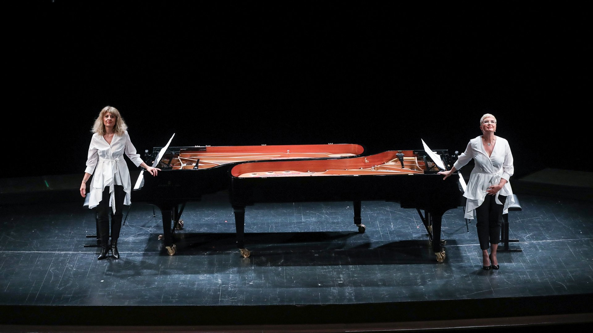 """Piano duo Ufuk & Bahar Dördüncü will present the project """"The Revolted Scene"""" as part of the 49th Istanbul Music Festival.  (Courtesy of IKSV)"""