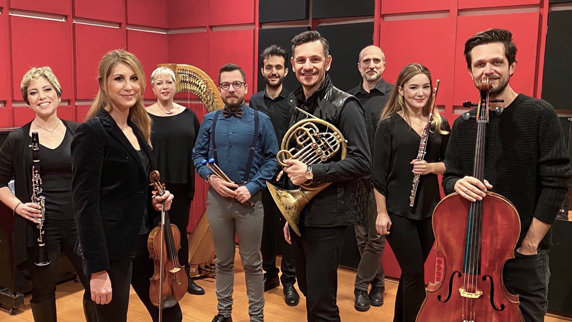 Talented members of the Diskant Contemporary Music Ensemble will perform the works of Turkish composer Ilhan Usmanbaş at the Istanbul Music Festival.  (Courtesy of IKSV)