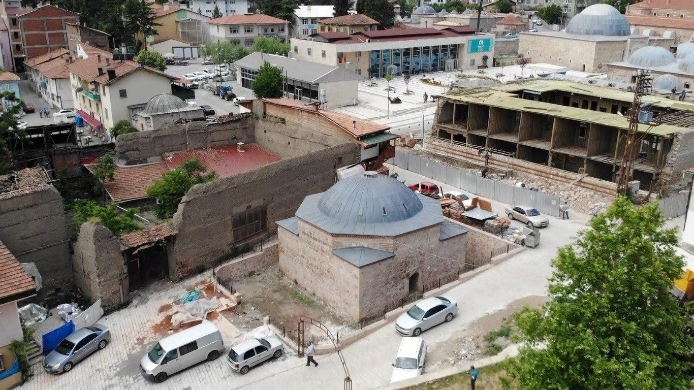 An outside view of the former public toilet, Tokat, northern Turkey, June 16, 2021. (IHA Photo)