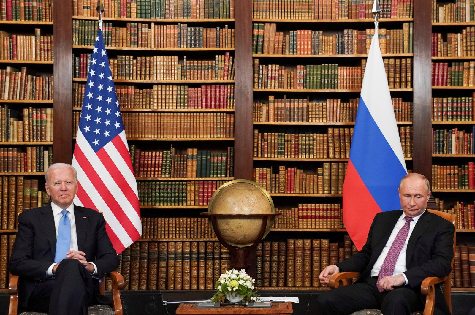 U.S. President Joe Biden and Russia's President Vladimir Putin meet for the U.S.-Russia summit at Villa La Grange in Geneva, Switzerland, June 16, 2021. (Reuters Photo)
