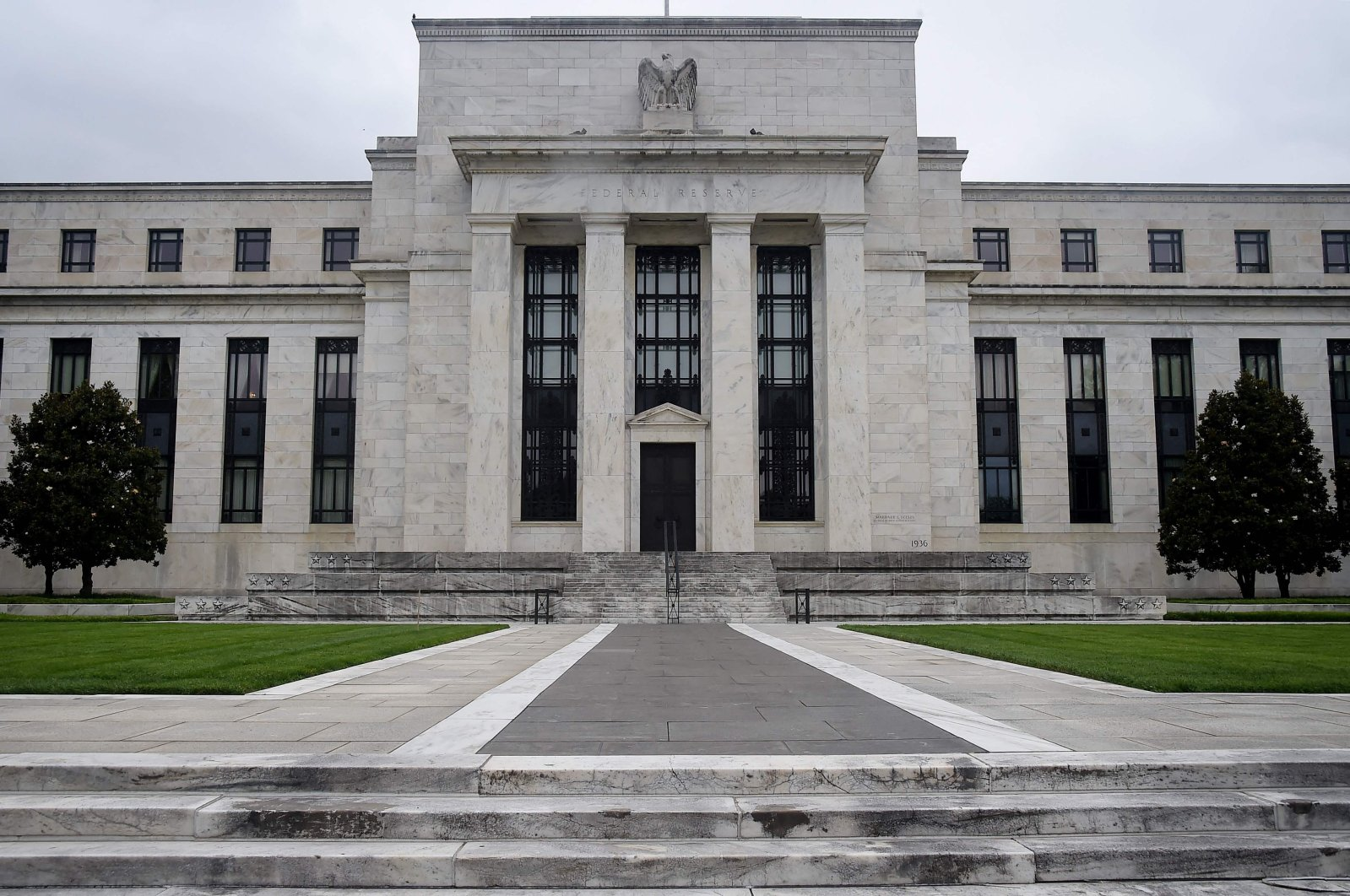 The Federal Reserve building is seen in Washington, D.C., U.S., June 17, 2020. (AFP File Photo)