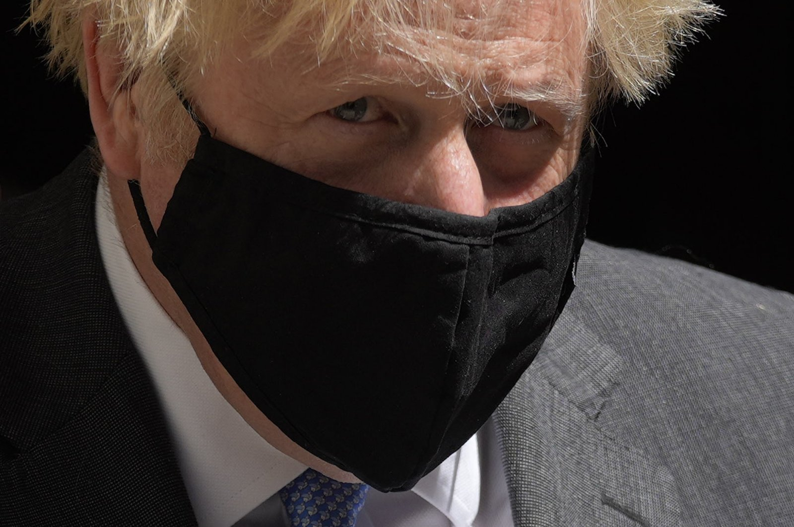 British Prime Minister Boris Johnson leaves 10 Downing Street to attend the weekly Prime Minister's Questions at the Houses of Parliament, in London, U.K., June 16, 2021. (AP Photo)