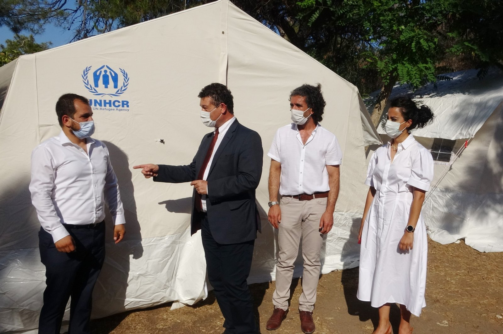 Philippe Leclerc, the representative of the U.N. High Commissioner for Refugees (UNHCR) in Turkey, is seen during a visit to southern Turkey's Mersin city, June 12, 2021. (IHA Photo)