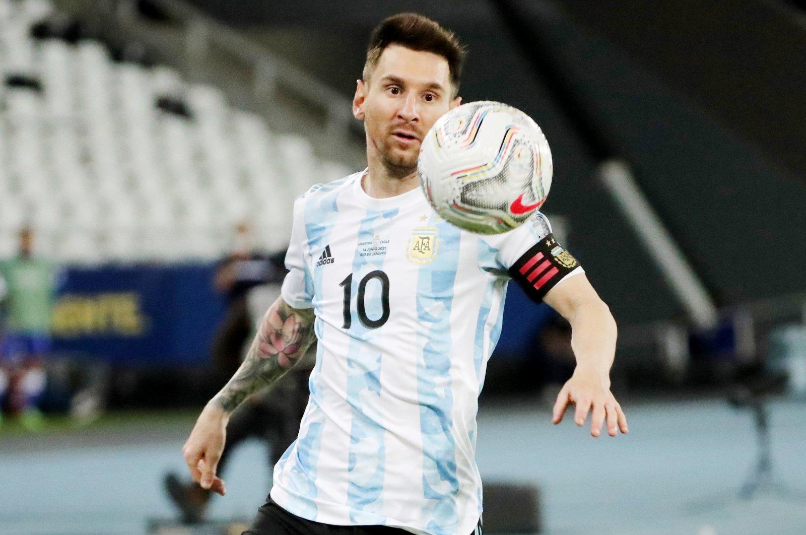 Argentina's Lionel Messi in action during a Copa America Group A match against Chile, Estadio Nilton Santos, Rio de Janeiro, Brazil, June 14, 2021. (Reuters Photo)