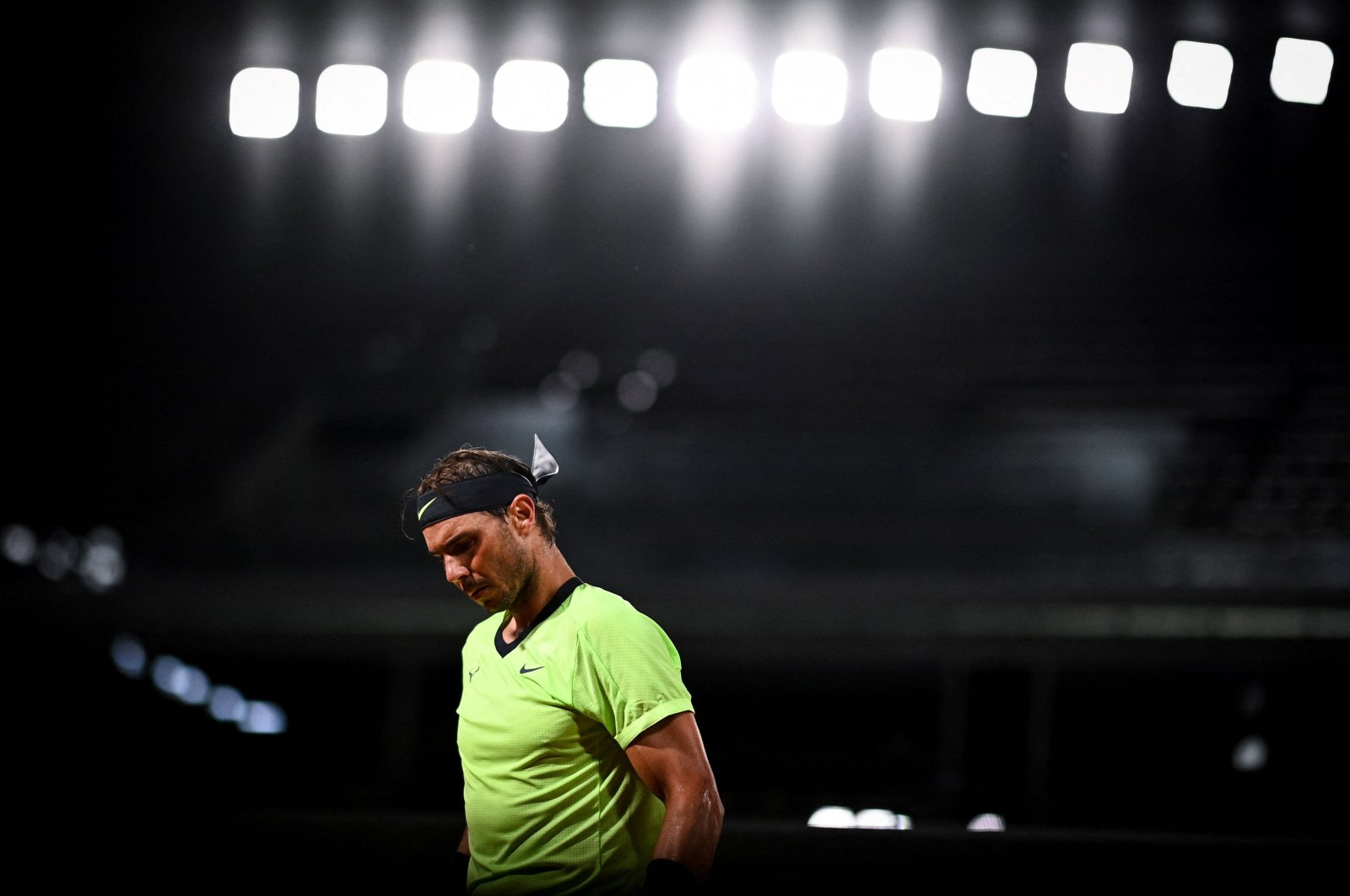 Spain's Rafael Nadal reacts on Day 5 of The Roland Garros 2021 French Open tennis tournament in Paris, France, June 3, 2021. (AFP Photo)