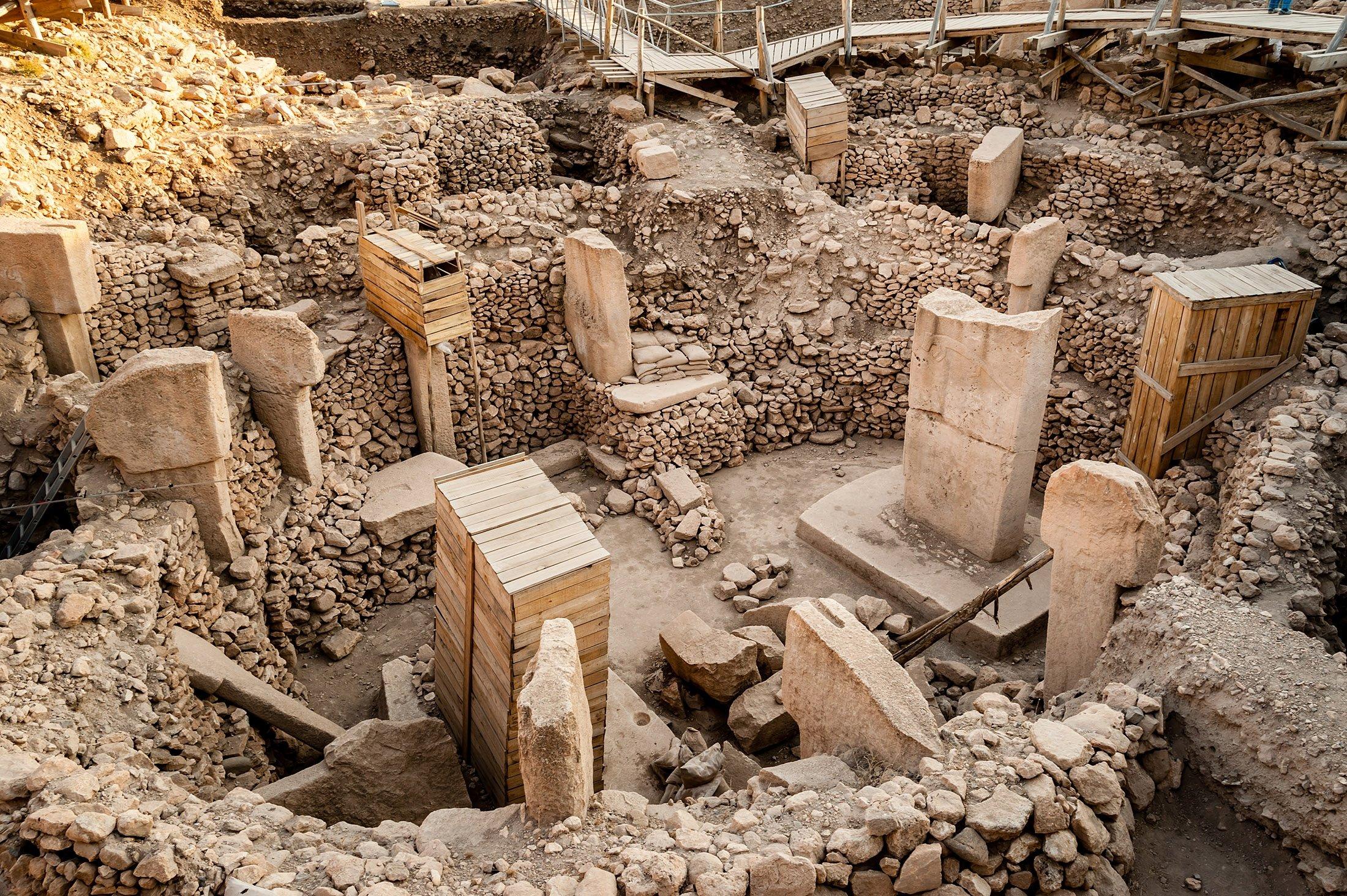 The outstanding 12,000-year-old Göbeklitepe complex, near Şanlıurfa, Turkey. (Shutterstock Photo)