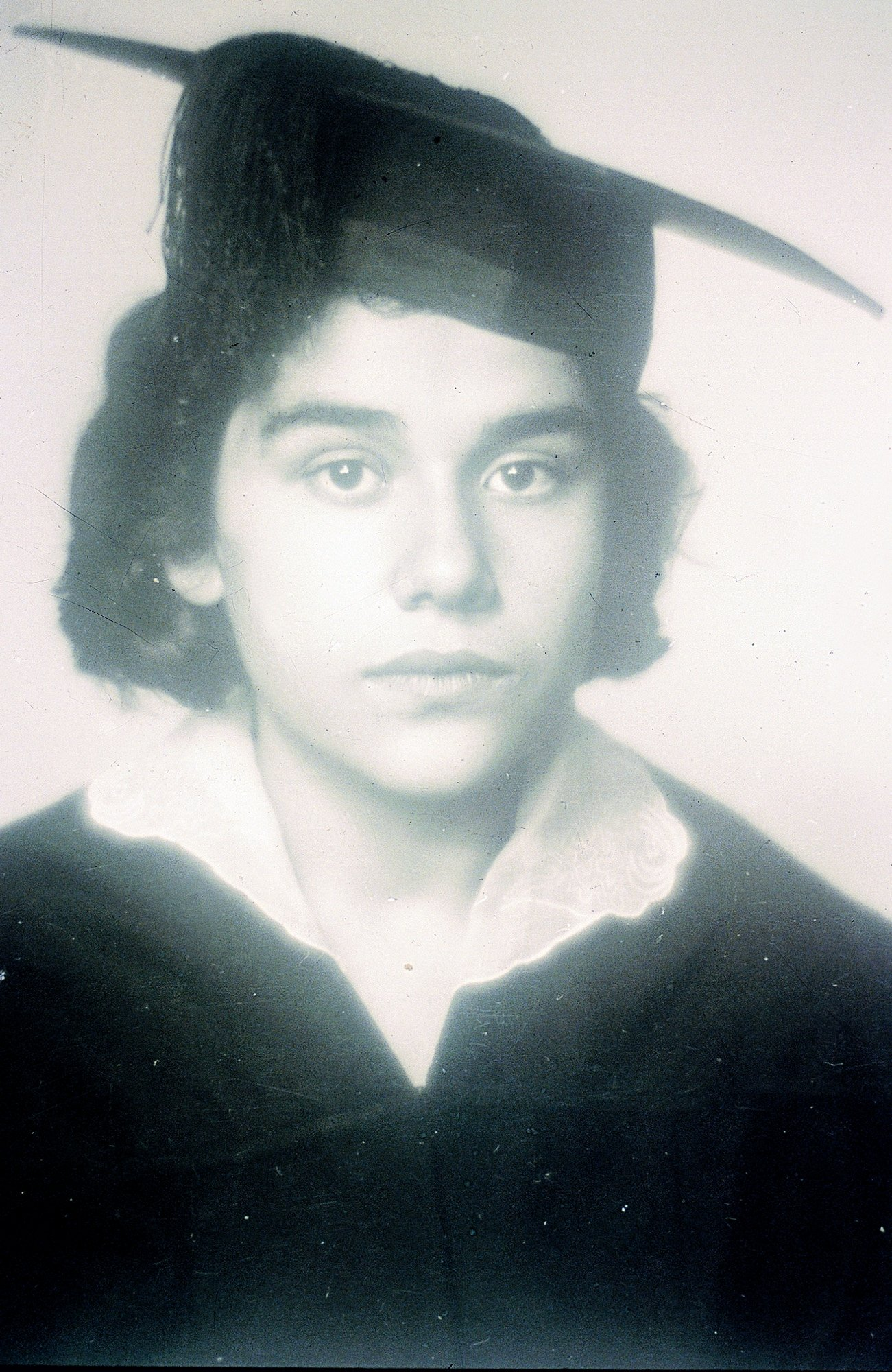 An old photo of Mina Urgan during her student years. (Archive Photo)