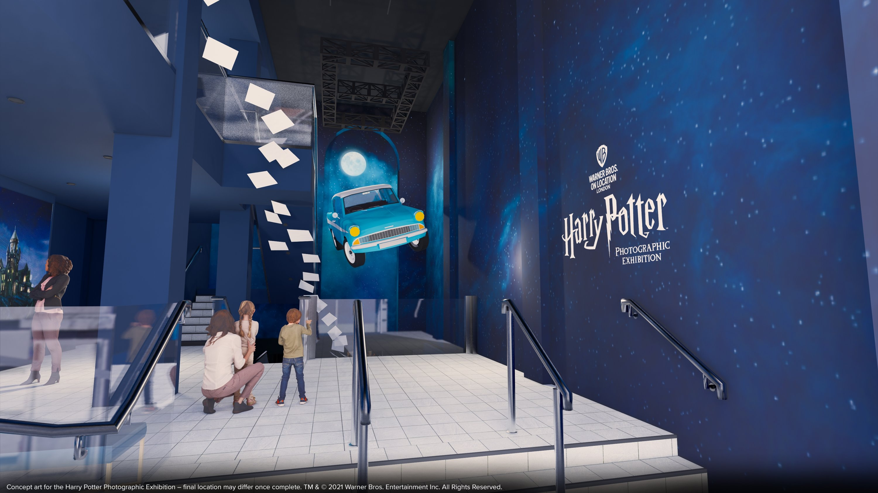"""A concept art for """"The Harry Potter Photographic Exhibition.' (DPA Photo)"""