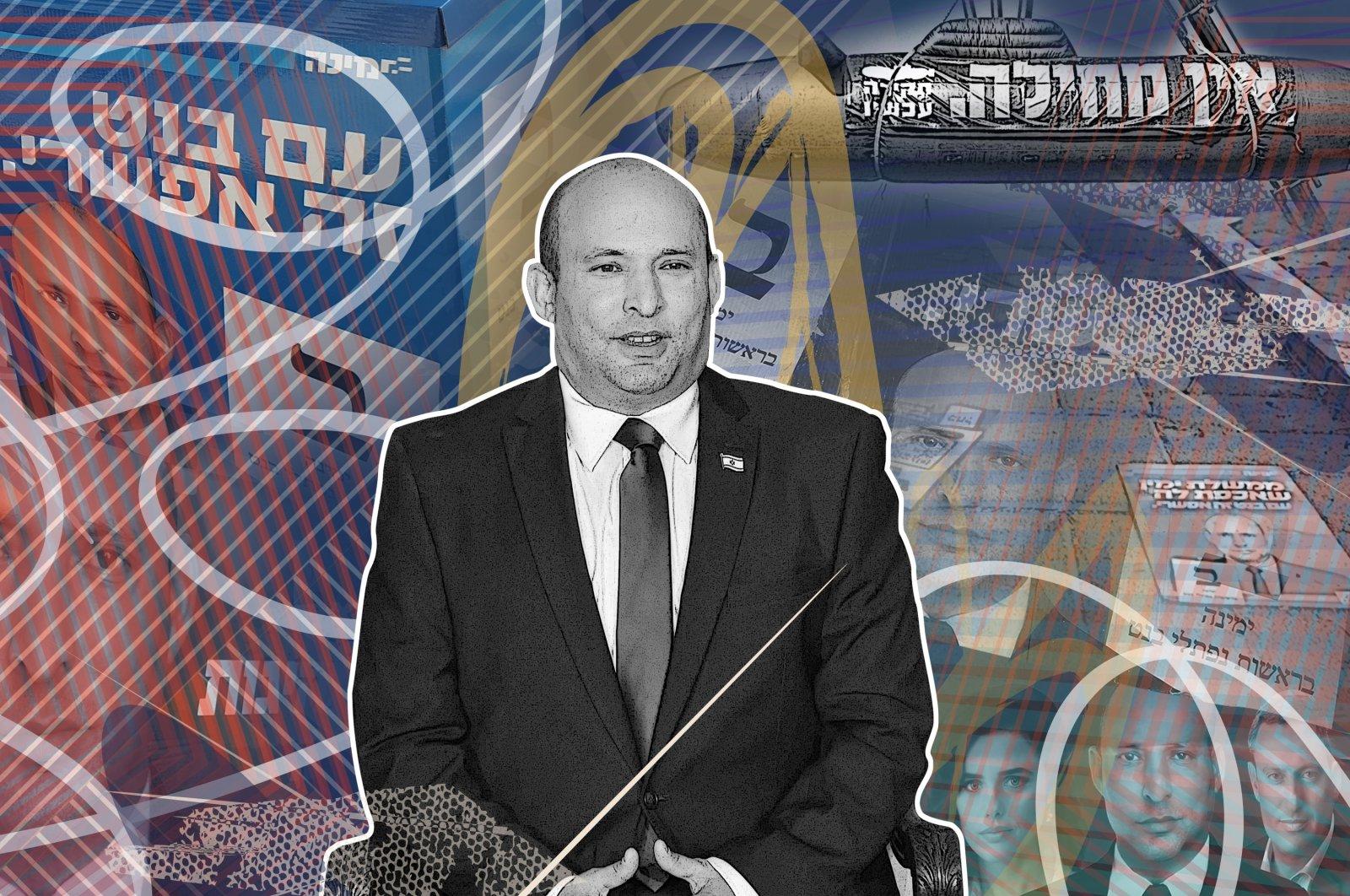 Daily Sabah illustration shows Israel's new Prime Minister Naftali Bennett.