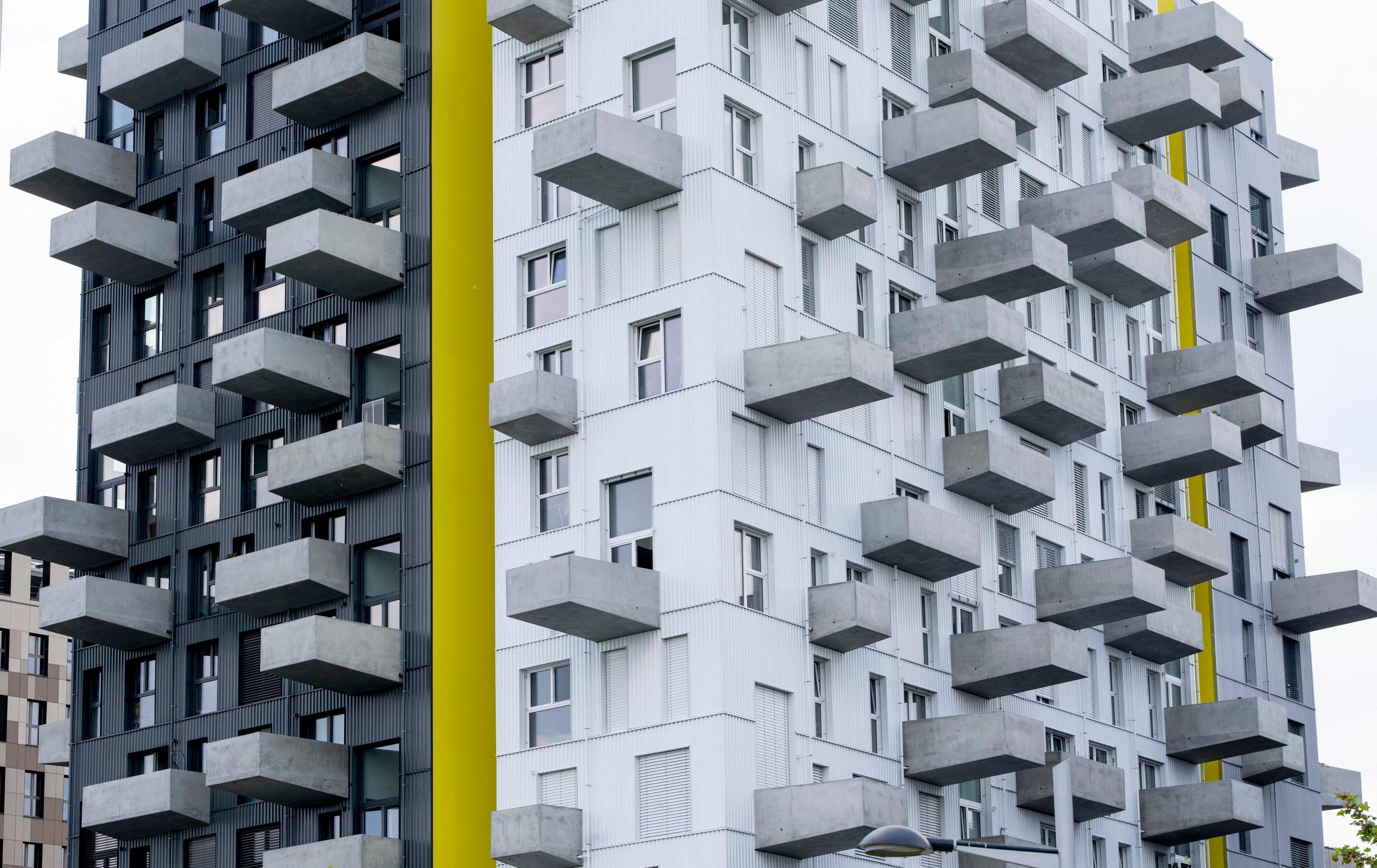 A general view of an apartment building at Vienna's suburb Seestadt, Austria, June 8, 2021. (AFP Photo)