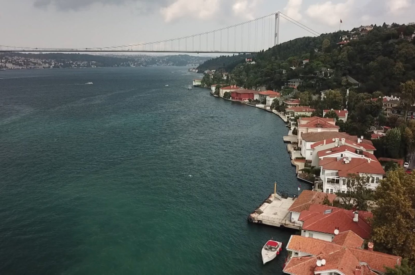 A general view of waterfront houses by the Bosporus, in Istanbul, Turkey, June 19, 2021. (DHA Photo)