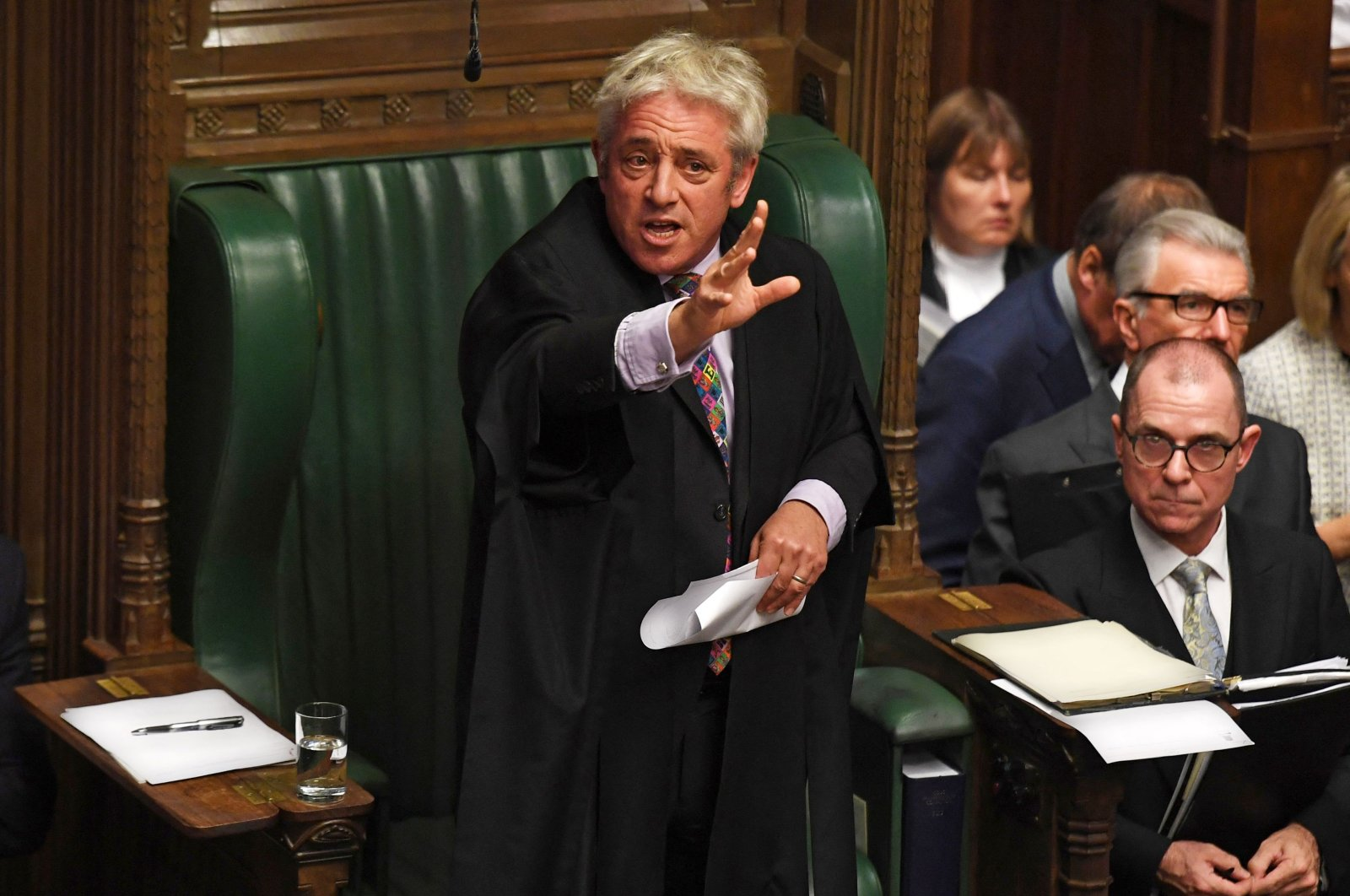 Former U.K. Parliament Speaker John Bercow speaks in the House of Commons in London on the European Union (EU) Withdrawal Act 2018 Motion, London, U.K., Oct. 21, 2019. (Photo by Jessica Taylor/U.K. Parliament via AFP)