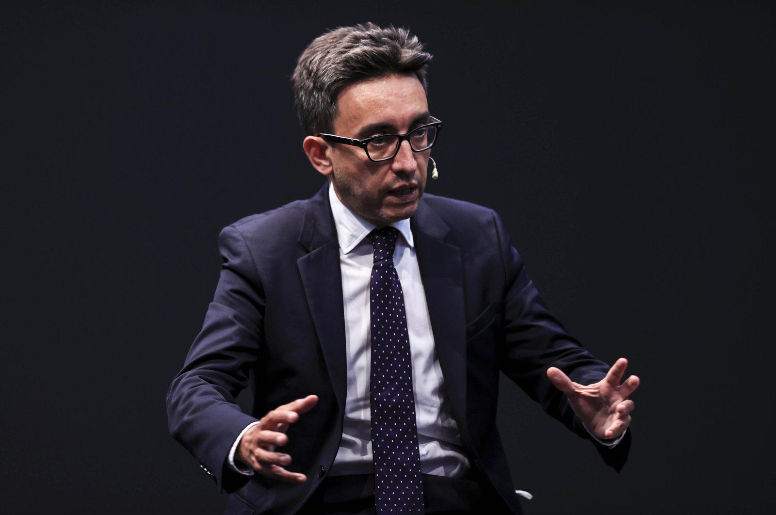 Former Portuguese Minister Bruno Macaes speaks at the Antalya Diplomacy Forum in Antalya, Turkey, Sunday, June 20, 2021. (AA Photo)