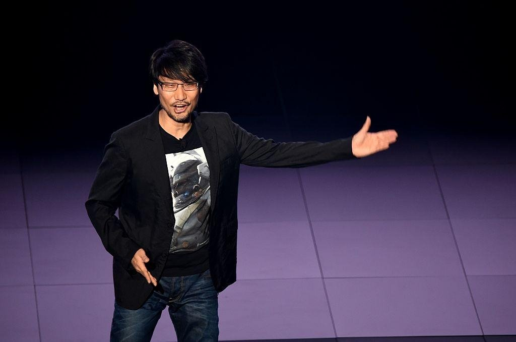 Hideo Kojima announces 'Death Stranding' during E3 fair at the Los Angeles Convention Center in June 2016. (AFP Photo)