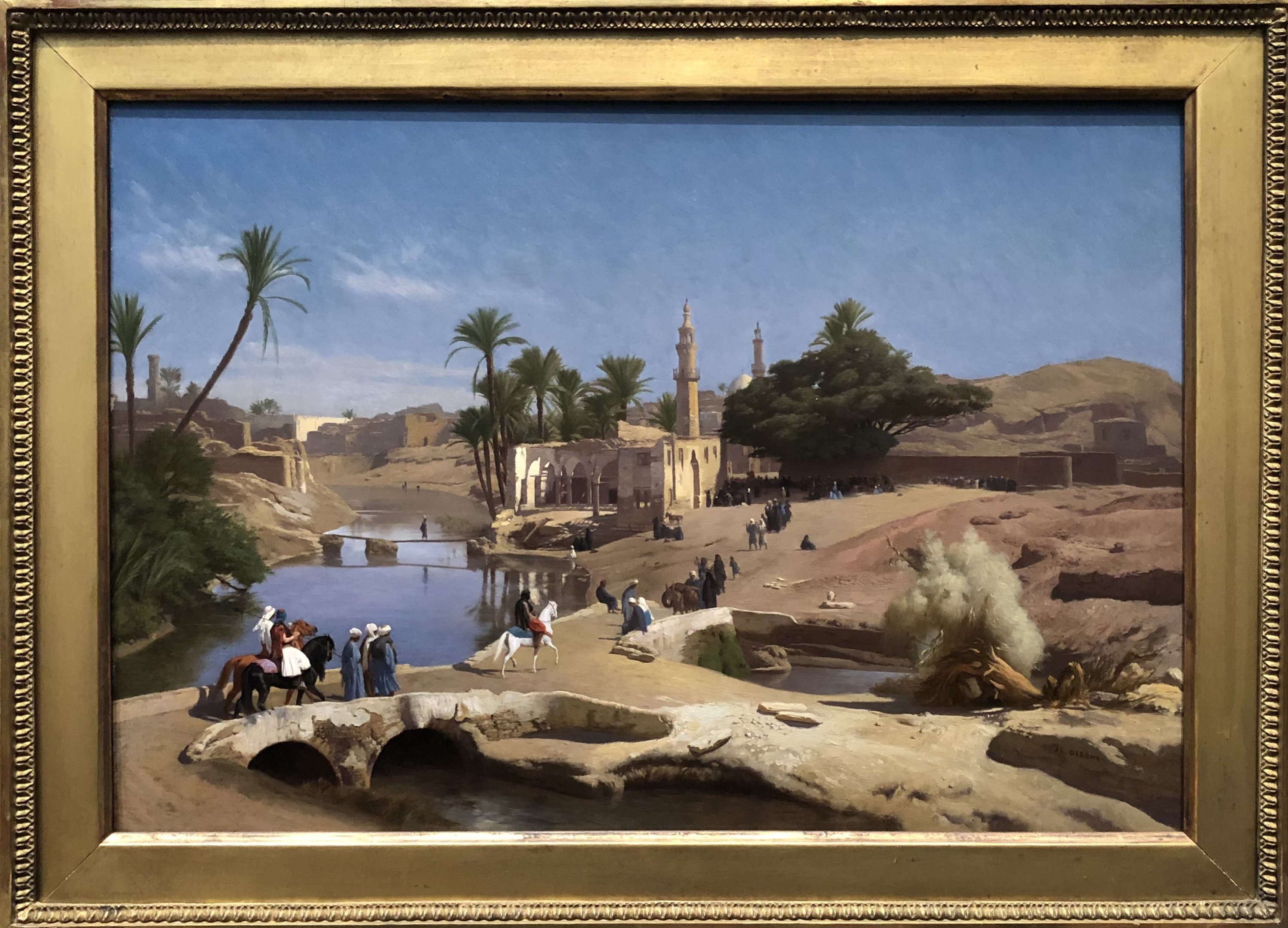 Jean-Leon Gerome's 'View of Medinet El-Fayoum,' 1868-1870, oil on canvas at the National Gallery of Art in Washington, D.C., U.S., June 12, 2021. (Photo by Matt Hanson)