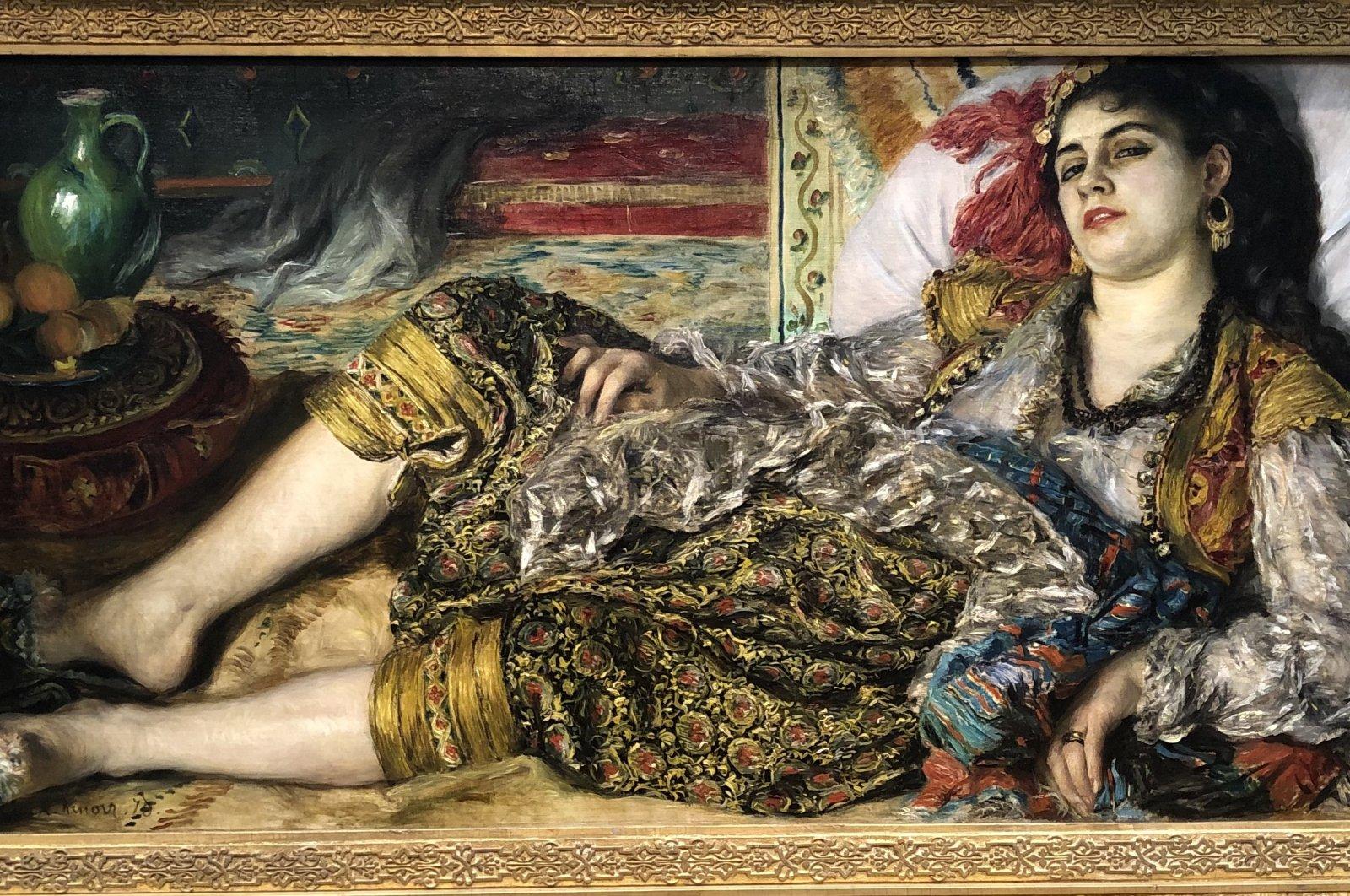 "Pierre-Auguste Renoir's ""Odalisque,"" 1870, oil on canvas at the National Gallery of Art in Washington, D.C., U.S., June 12, 2021. (Photo by Matt Hanson)"