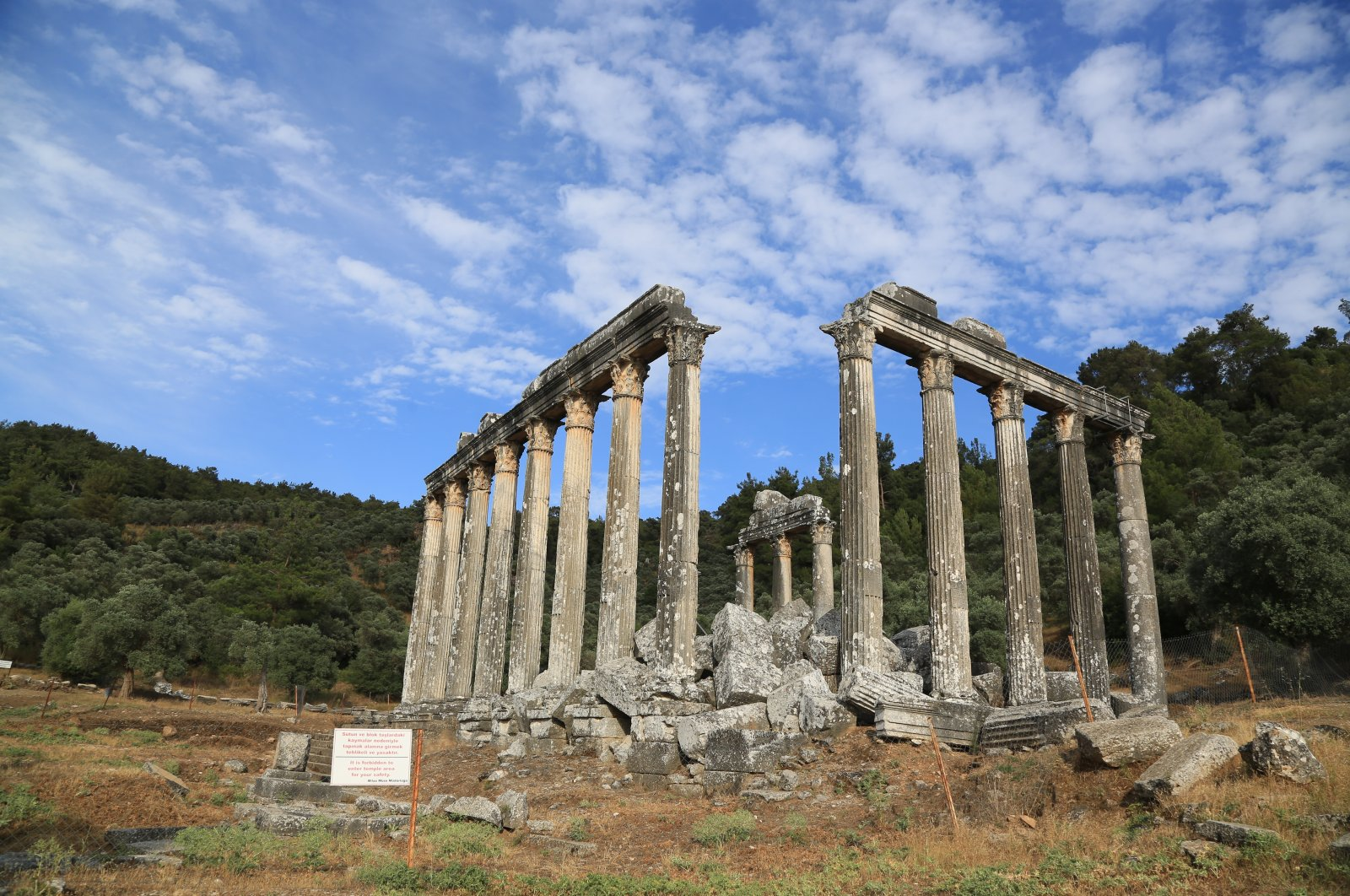 Temple of Zeus to be restored to its former glory in SW Turkey