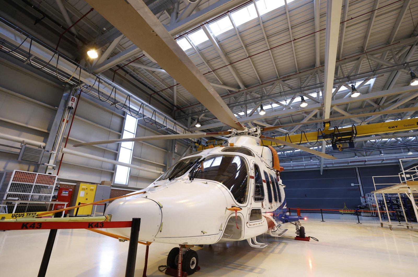 A prototype of Gökbey multirole helicopter in the TAI facility, Ankara, Turkey, May 25, 2021. (AA Photo)