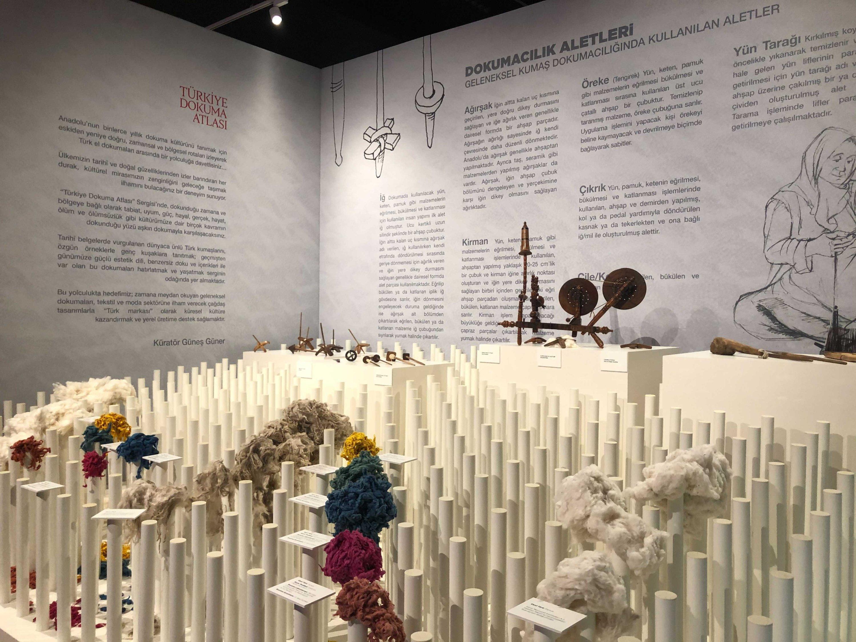 "A view from the  ""Fabrics Atlas Exhibition,' Ankara, Turkey, June 22, 2021. (Photo by Nur Özkan Erbay)"