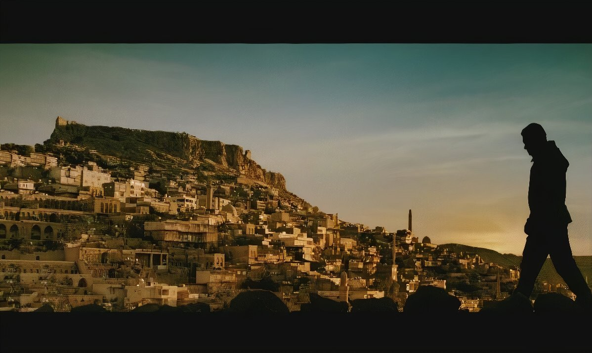 """A still shot from """"Ek tha Tiger"""" (""""Once There was a Tiger"""") shows a view of Mardin in southeastern Turkey."""