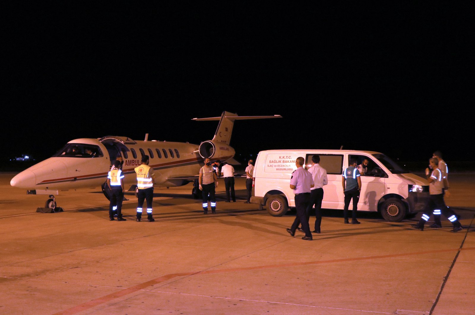 An airplane carrying COVID-19 vaccines arrives at the Ercan International Airport in the Turkish Republic of Northern Cyprus, June 17, 2021. (AA File Photo)