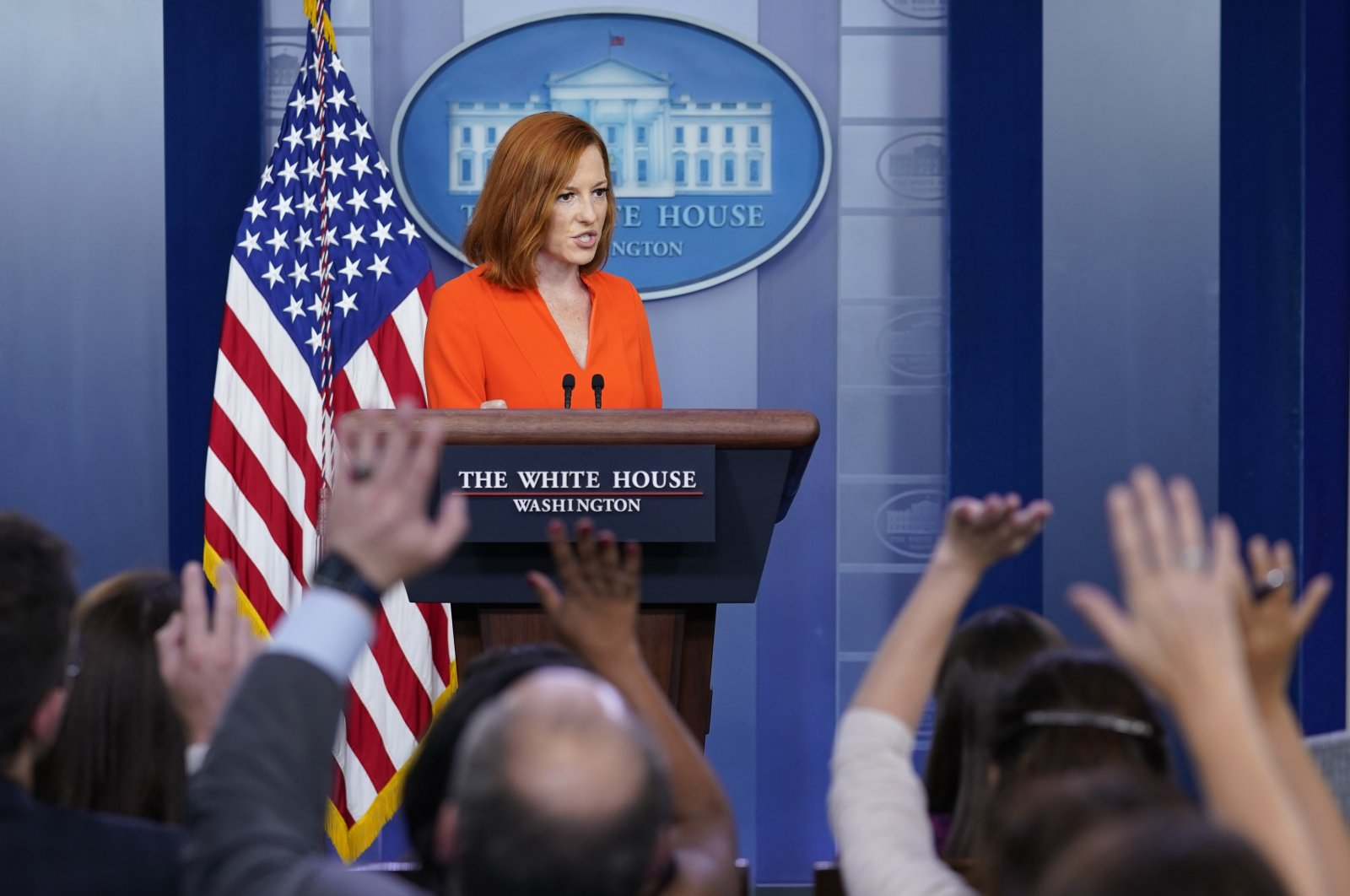 White House Press Secretary Jen Psaki speaks during a daily briefing at the White House in Washington, D.C., the U.S., June 21, 2021. (AP Photo)