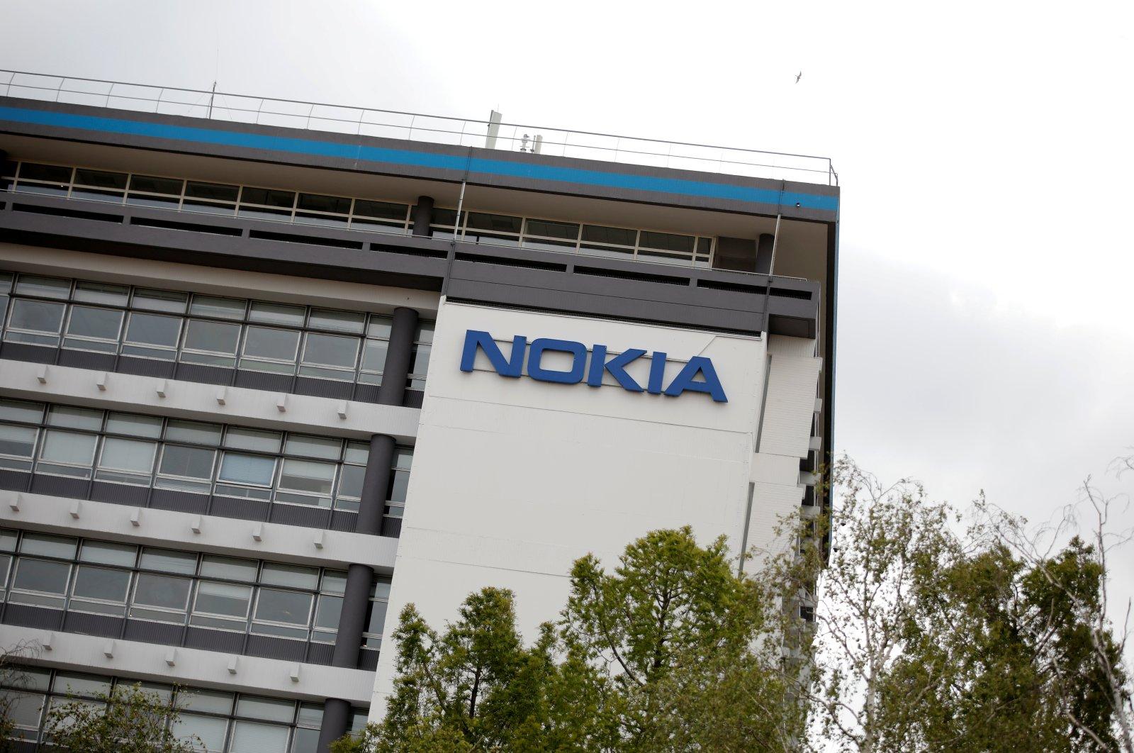 The Nokia logo is displayed at the Nokia Paris-Saclay campus in Nozay, near Paris, France, June 30, 2020. (Reuters Photo)