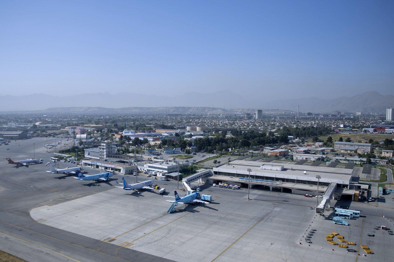 Hamid Karzai International airport in Kabul, Afghanistan, July 25, 2015. (AP Photo)