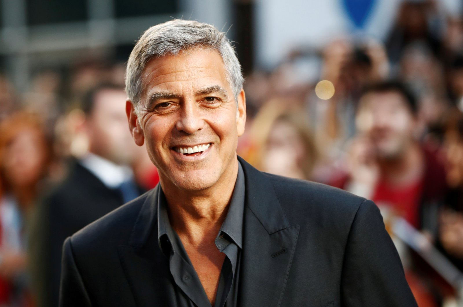 """Actor George Clooney arrives on the red carpet for the film """"Suburbicon"""" at the Toronto International Film Festival (TIFF), in Toronto, Canada, Sept. 9, 2017. (Reuters Photo)"""