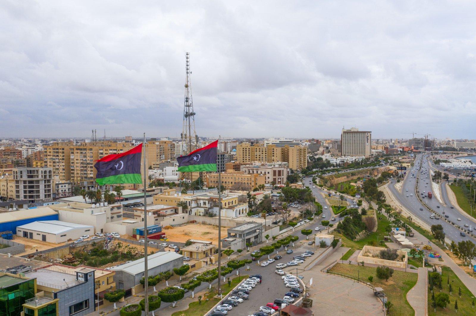 Capital of Libya, Tripoli seafront skyline view, Feb.14, 2021. (Shutterstock Photo)